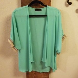 Tops - Small Kimono with fringe detail